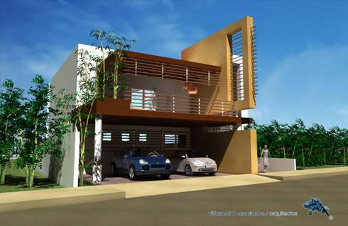 CASA SELVA MAR:  de estilo  por villarreal arquitectos y urbanistas asociados sc