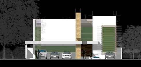 CASA G&C:  de estilo  por villarreal arquitectos y urbanistas asociados sc