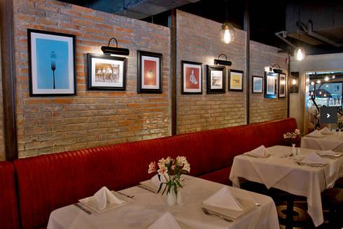 Restaurante Urban Grill: Restaurantes de estilo  por Boué Arquitectos