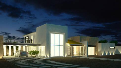 Casa O-M: Casas de estilo rústico por Jeost Arquitectura