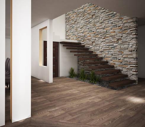 Casa O-M: Paredes de estilo  por Jeost Arquitectura