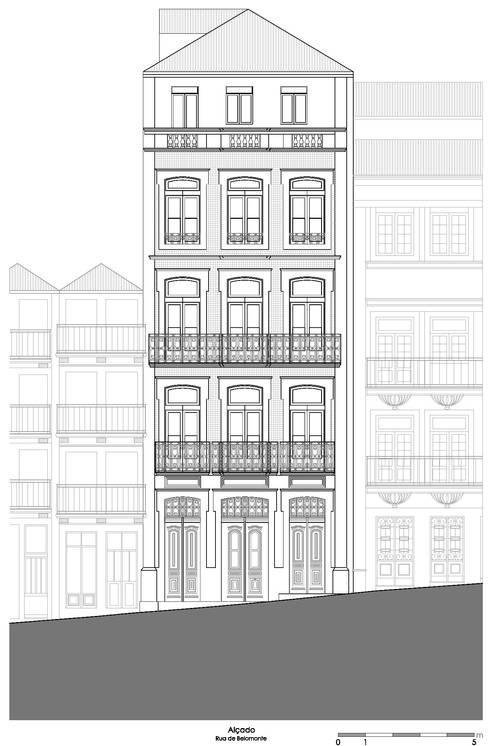 Alçado - Rua de Belomonte:   por Teresa Pinto Ribeiro | Arquitectura |