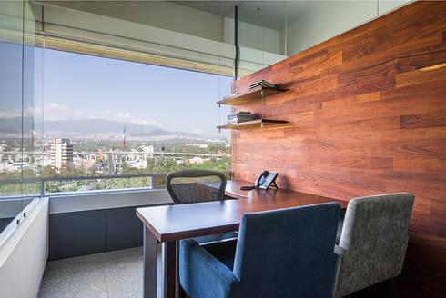 OFICINAS O&H: Oficinas y tiendas de estilo  por Barra de Arquitectura Mexicana