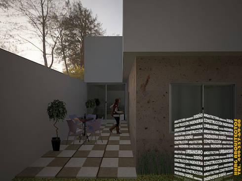 PATIO: Casas de estilo minimalista por HHRG ARQUITECTOS