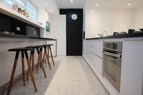 3: Cocinas de estilo minimalista por RRA Arquitectura