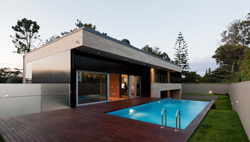 Casa AA_3: Casas modernas por XYZ Arquitectos Associados