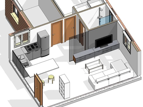 PROPUESTA DE REFORMA EN 3D:  de estilo  por NAZAR Estudio
