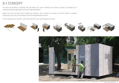 TreeHouse Spot: Casas minimalistas por Plano Humano Arquitectos
