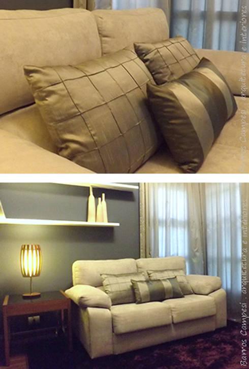 Detalhes Sala de TV: Salas multimídia modernas por Barros Campesi Arquitetura