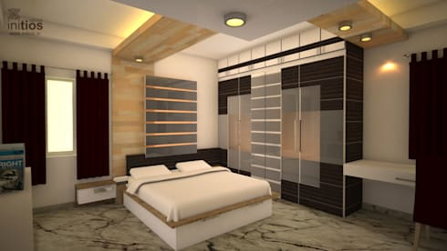 Mr. Bharat 's residence : modern Bedroom by Initios Designs