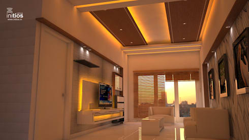 Mr. Amit's Residence : modern Living room by Initios Designs