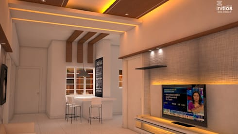 Mr. Amit's Residence : modern Dining room by Initios Designs