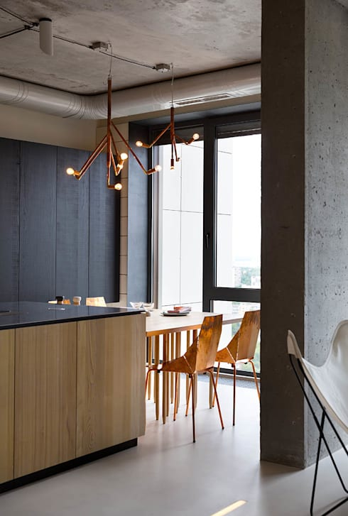 industrial Kitchen by Olga Akulova DESIGN