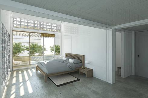 Habitación principal:  de estilo  por PUNCH TAD