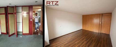 Cambio de pisos luminarias y pintura:  de estilo  por RTZ-Arquitectos