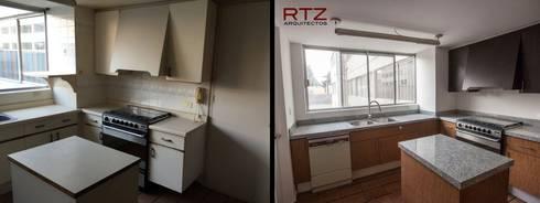 Remodelacion de cocina rescatando estrucura:  de estilo  por RTZ-Arquitectos