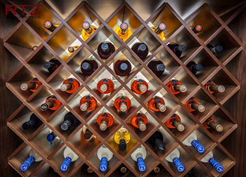 Repisas para bar translucido: Comedor de estilo  por RTZ-Arquitectos