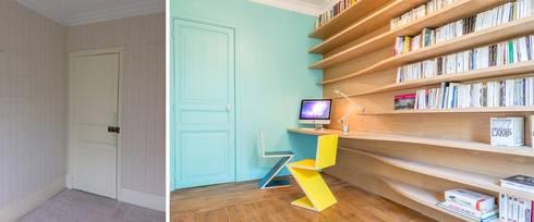 Bureau - bibliothéque:  de style  par Créateurs d'interieur