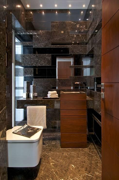 NP Villa: modern Bathroom by Atelier Design N Domain