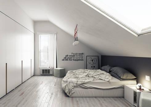 Camera da letto di simone manna 3d homify for Camera letto 3d