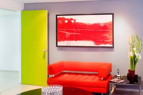 .: Salas / recibidores de estilo moderno por Belhogar Diseños, C.A.