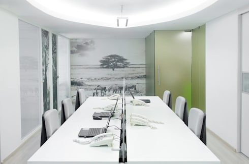 .: Oficinas de estilo moderno por Belhogar Diseños, C.A.