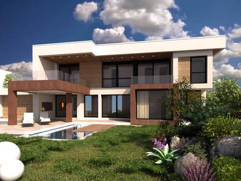 Rendering interni ed esterni di avogadri simone archi3d for Architettura moderna interni case
