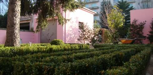 Jardim de habitação particular no Porto: Jardins rústicos por Neoturf