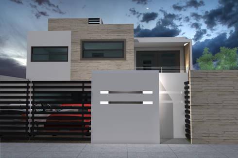 Casa KR - Querétaro: Casas de estilo moderno por NUV Arquitectura