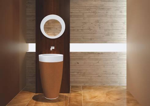 Ambiente 3D NATUR+UP: Casa de banho  por AMA Design