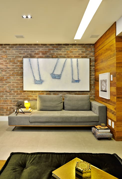 SALA: Salas de estar modernas por Edílson Campelo Arquitetura