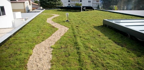 Cobertura ajardinada em Vila Nova de Gaia: Jardins modernos por Neoturf