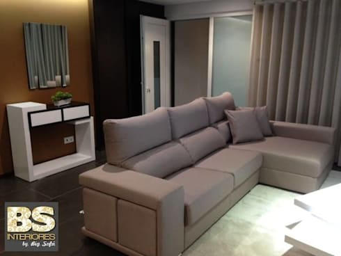 Sala de Estar Luna: Sala de estar  por BS Interiores