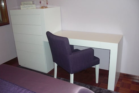 Cadeirões: Sala de estar  por BS Interiores