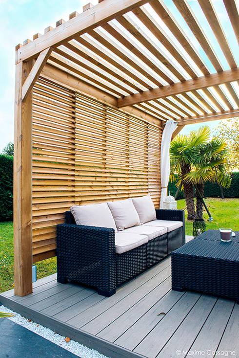 un jardin design chez soi de e p design emilie peyrille homify. Black Bedroom Furniture Sets. Home Design Ideas