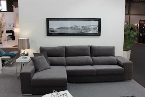 Sala de Estar Luna: Salas de estar modernas por BS Interiores