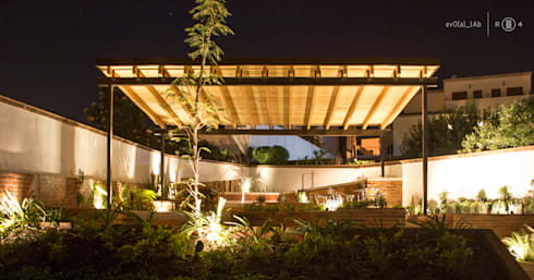 Perspectiva jardín: Jardines de estilo minimalista por Región 4 Arquitectura