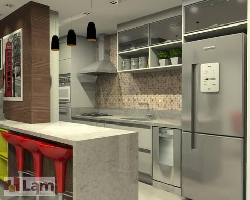 Cozinha - Projeto: Cozinhas modernas por LAM Arquitetura   Interiores