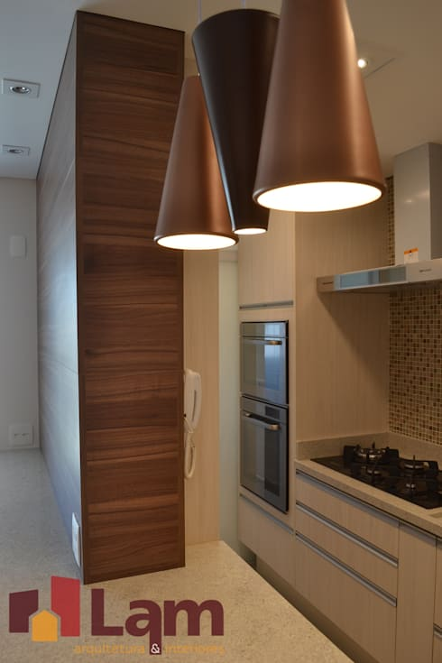 Cozinha - Finalizado: Cozinhas modernas por LAM Arquitetura   Interiores