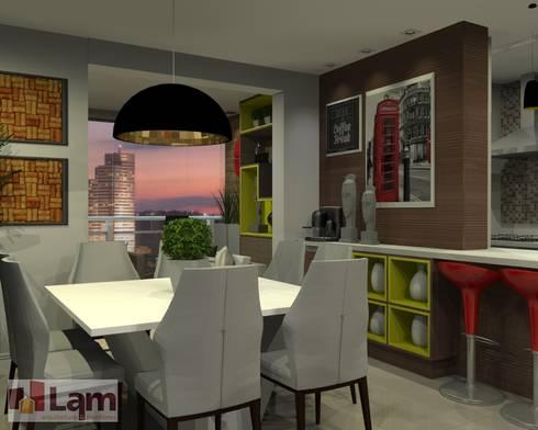 Sala de Jantar - Projeto: Salas de jantar modernas por LAM Arquitetura   Interiores