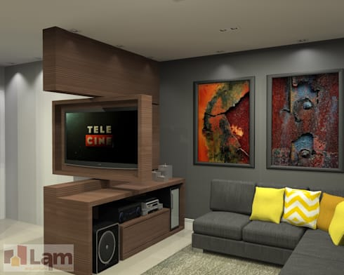 Sala de Estar - Projeto: Salas de estar modernas por LAM Arquitetura   Interiores