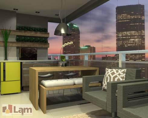 Varanda - Projeto: Terraços  por LAM Arquitetura   Interiores