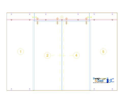 Cancel Corredizo con Cristal Templado y Sistema Manet marca DORMA:  de estilo  por INGENIERIA Y DISEÑO EN CRISTAL, S.A. DE C.V.