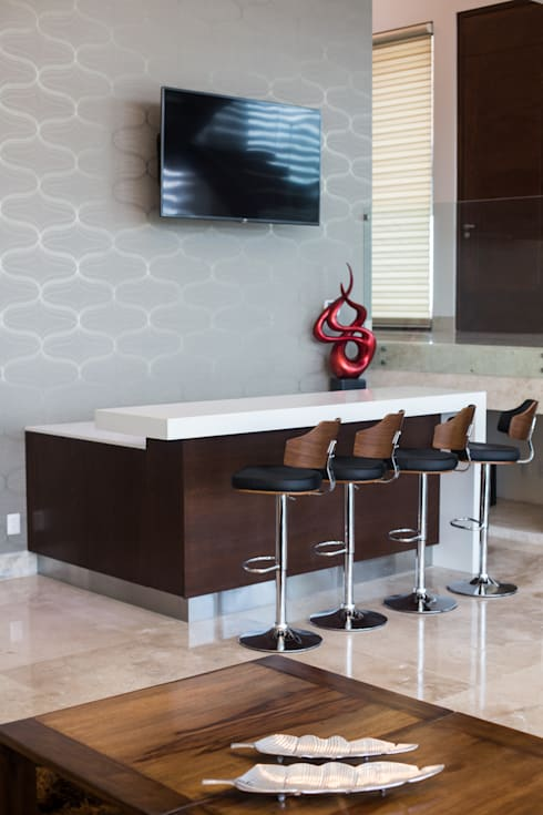 Paredes y pisos de estilo moderno por Dovela Interiorismo