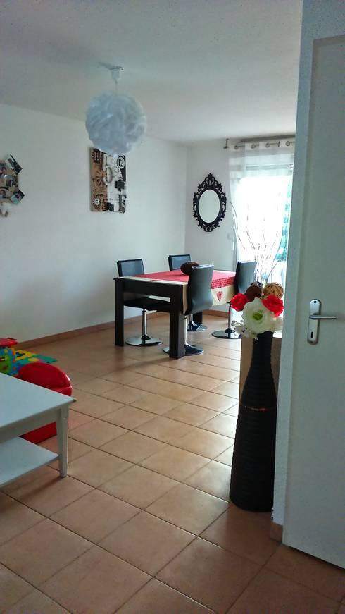 Une pièce à vivre aux airs Scandinaves: Salle à manger de style  par E/P DESIGN - Emilie Peyrille