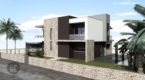 Moradia Unifamiliar - Moçambique: Casas modernas por ATELIER OPEN ® - Arquitetura e Engenharia