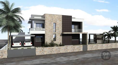 Moradia Unifamiliar – Moçambique: Casas modernas por ATELIER OPEN ® - Arquitetura e Engenharia