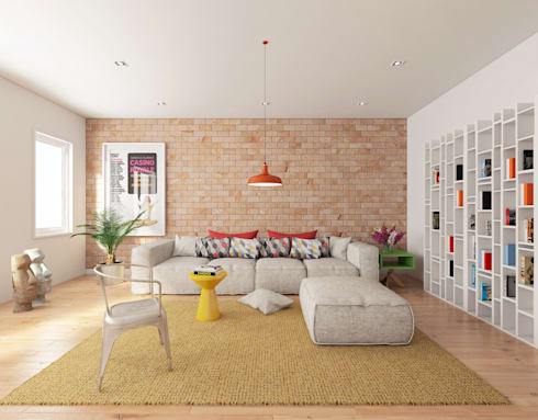 Sala Carioca: Salas de estar minimalistas por José Tiago Rosa