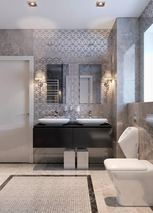 Projekty,  Łazienka zaprojektowane przez EJ Studio