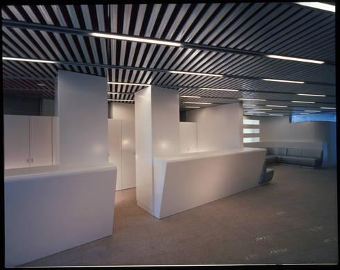 1階受付: Guen BERTHEAU-SUZUKI  Co.,Ltd.が手掛けたオフィスビルです。